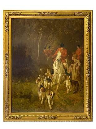 John Charlton (BRITISH, 1849–1917) oil on canvas