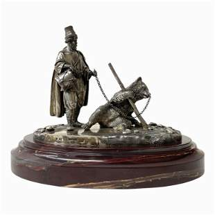 "A Silver Sculpture ""Dancing Bear"" Sazikov 1861"