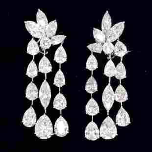 24.22 Ct Diamond Chandelier Earrings