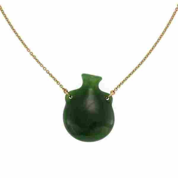 Tiffany & Co. Elsa Peretti Bottle green jade penda