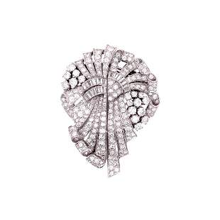 Arti Deco 19.50 Ct Diamond Pin