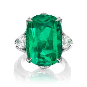 18.43ct Emerald And 3.22ct Diamond Ring