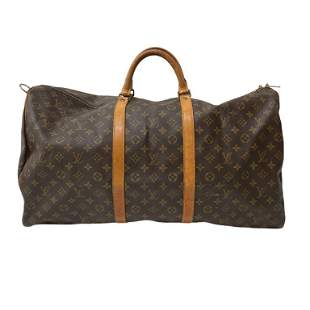 Louis Vuitton Monogram Travel Bag in Brown