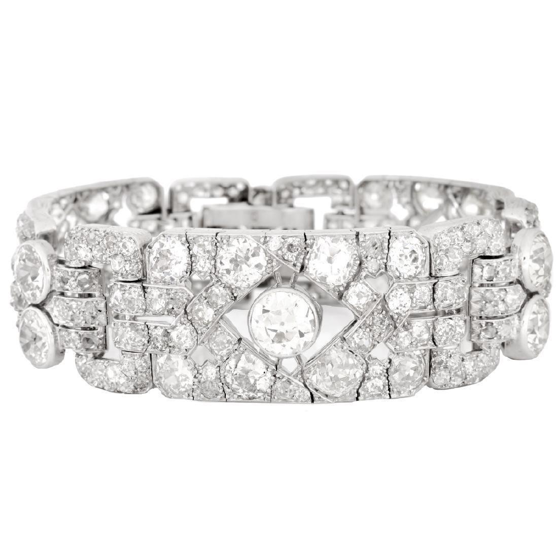 Art Deco 50.0ct. TW Diamond Bracelet