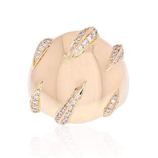 CARTIER 18K YELLOW GOLD PANTHERE CLAW DIAMOND RING