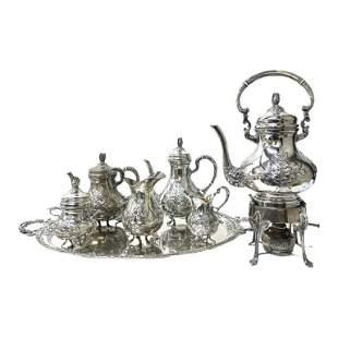Handarbeit Sterling Silver Tea Set (7)