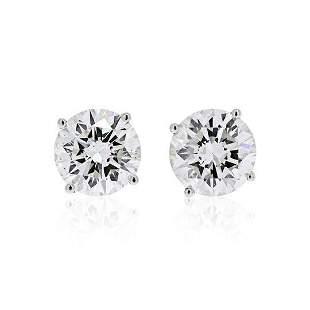 2.31 CTTW ROUND DIAMOND STUD EARRINGS