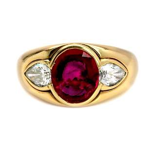 5.00 Ct. GIA Certified Ruby And Diamond Bvlgari Ri