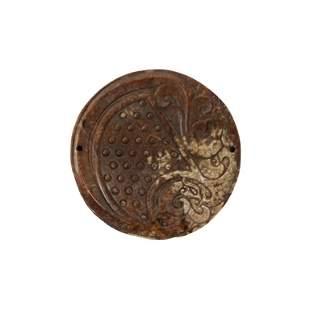 Chinese Brown Jade Disk