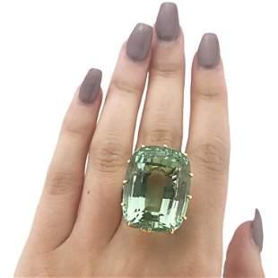 Cartier Beryl and Diamond Ring