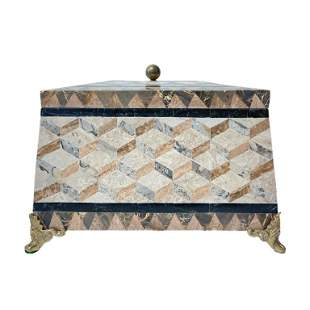 Wood and Marble Mosaic Trunk