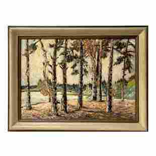 Oil on Canvas Forest Landscape