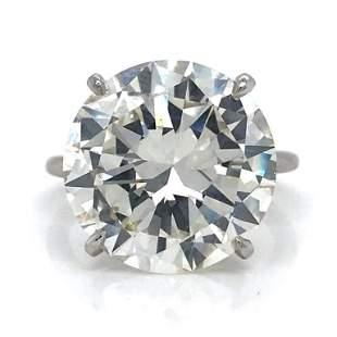 12.40 Ct Monture Cartier GIA Diamond Ring