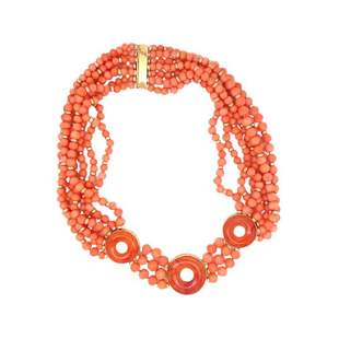 18k Coral Necklace