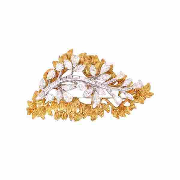 14 Karat Yellow Gold Diamond Pendant