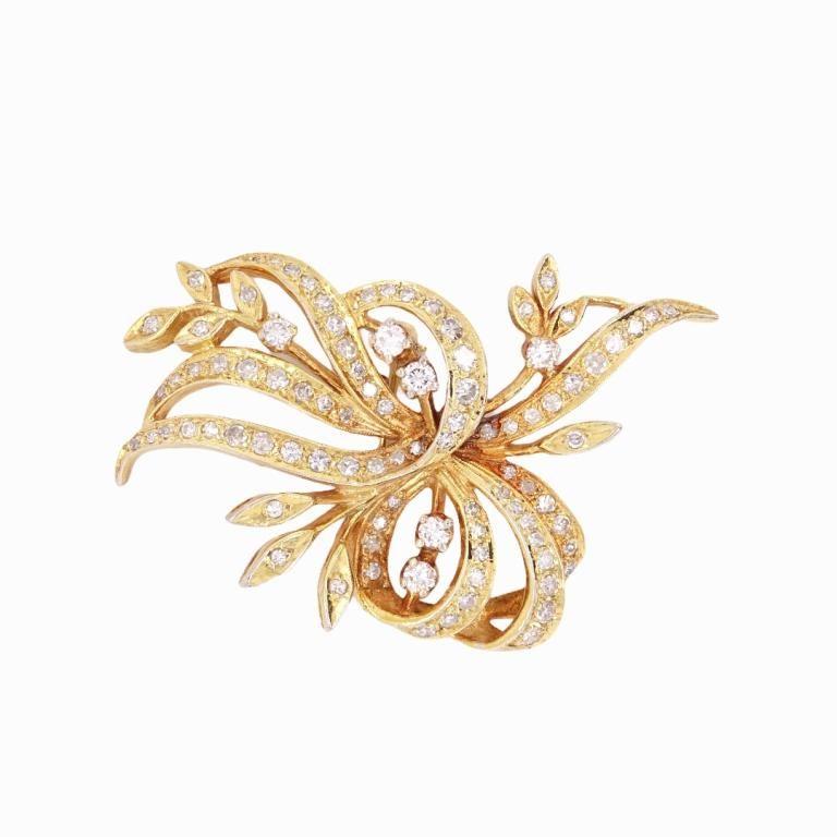 An 18 Karat Yellow Gold Diamond Pendant