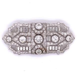 14.55 Ct Diamond Brooch