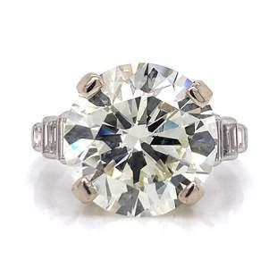 9.39 Ct Art Deco Diamond Engagement Ring