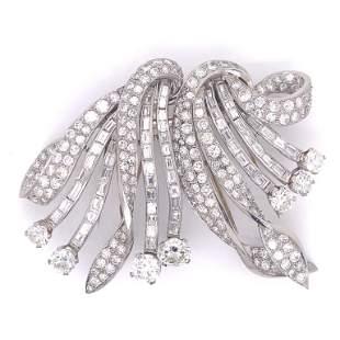 24.00 Ct Art Deco Diamond Brooch