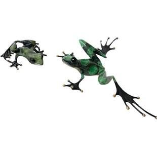 Tim Cotterill (England, b. 1950), Signature Frogs