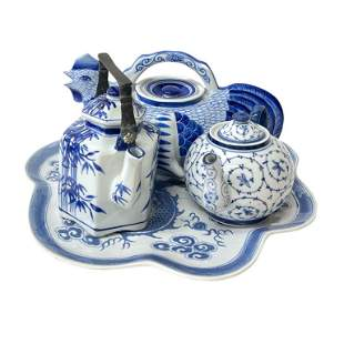 Lot of Chinese Blue White Porcelain