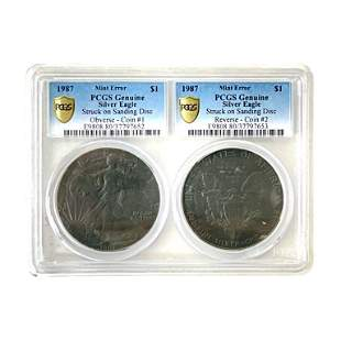 PCGS Silver Eagle 1987 Mint Error