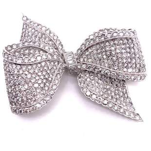 15.75 Ct. Diamond Bow Pin