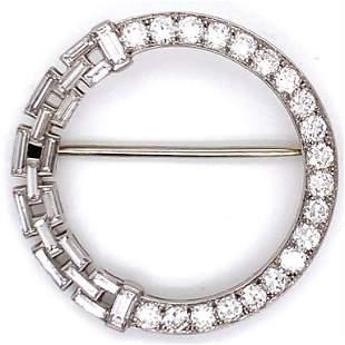Art Deco 3.00 Ct Diamond Pin