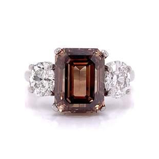 5.01 Ct. Fancy Brown Diamond Ring