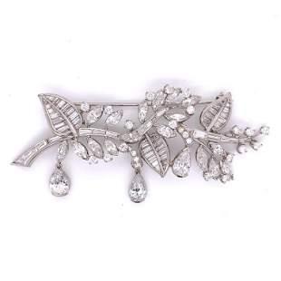 10.25 Ct. Art Deco Diamond Brooch