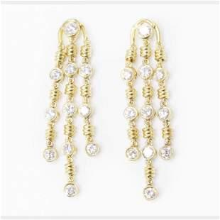4.50 Ct Diamond Bvlgari Earrings