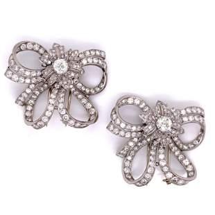 Art Deco Diamond Bow Set
