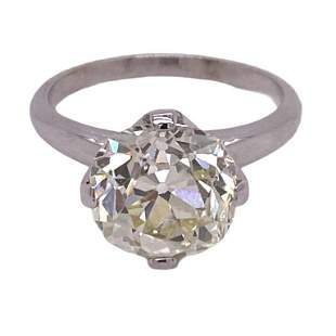 5.19Ct Old Mine Cut Diamond Antique Engagment Ring