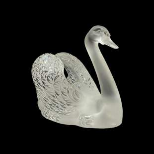 Lalique Crystal Swan