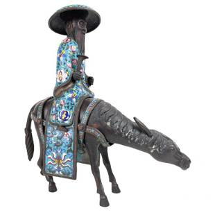 Chinese Cloissone Donkey Scupture