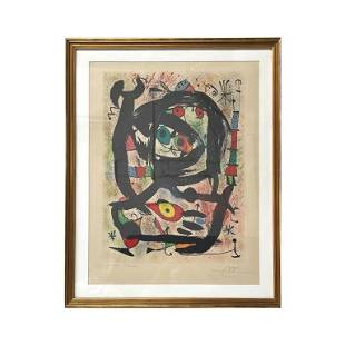 Joan Miro (Spanish, 1893-1983) Lithograph