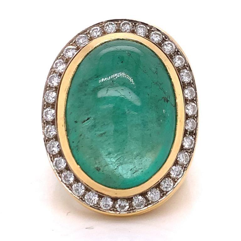 15 Ct Emerald And Diamond Ring