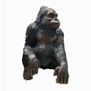 Bronze Gorilla Sculpture