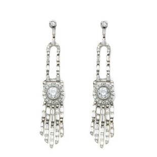 13.00 Ct Diamond Chandelier Earrings