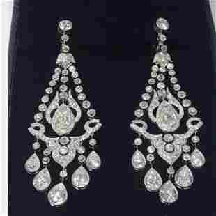 28.50 Ct Diamonds Chandelier Earrings
