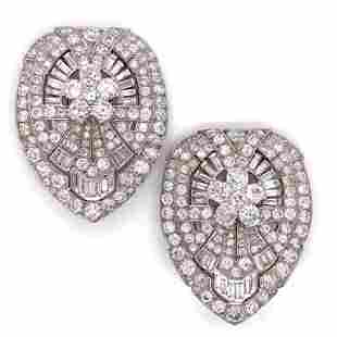 24.00 Ct Diamond Double Clip Set