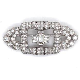 8.60 Ct Diamond Art Deco Pin
