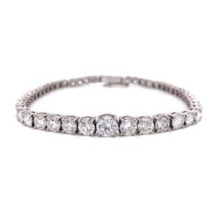 9.75 Ct Art Deco Diamond Tennis Bracelet