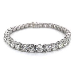 22.25 Ct Diamond Tennis Bracelet