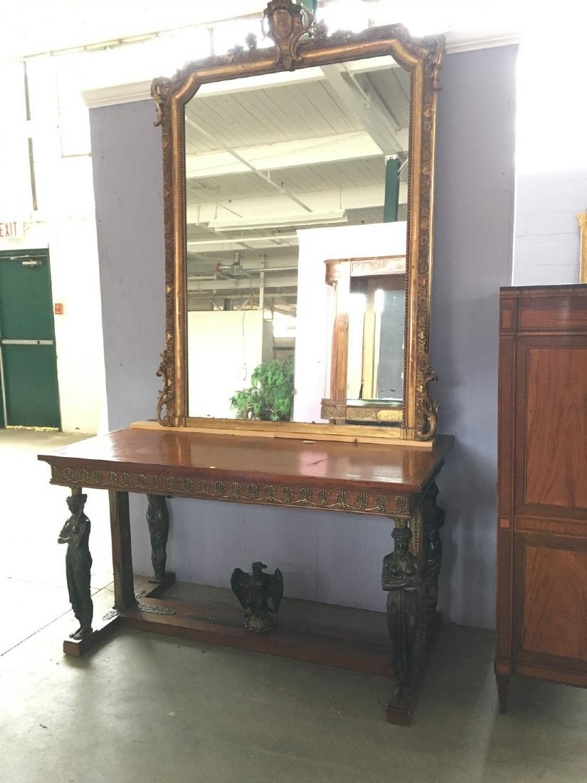 19th century Empire style centre table with 4