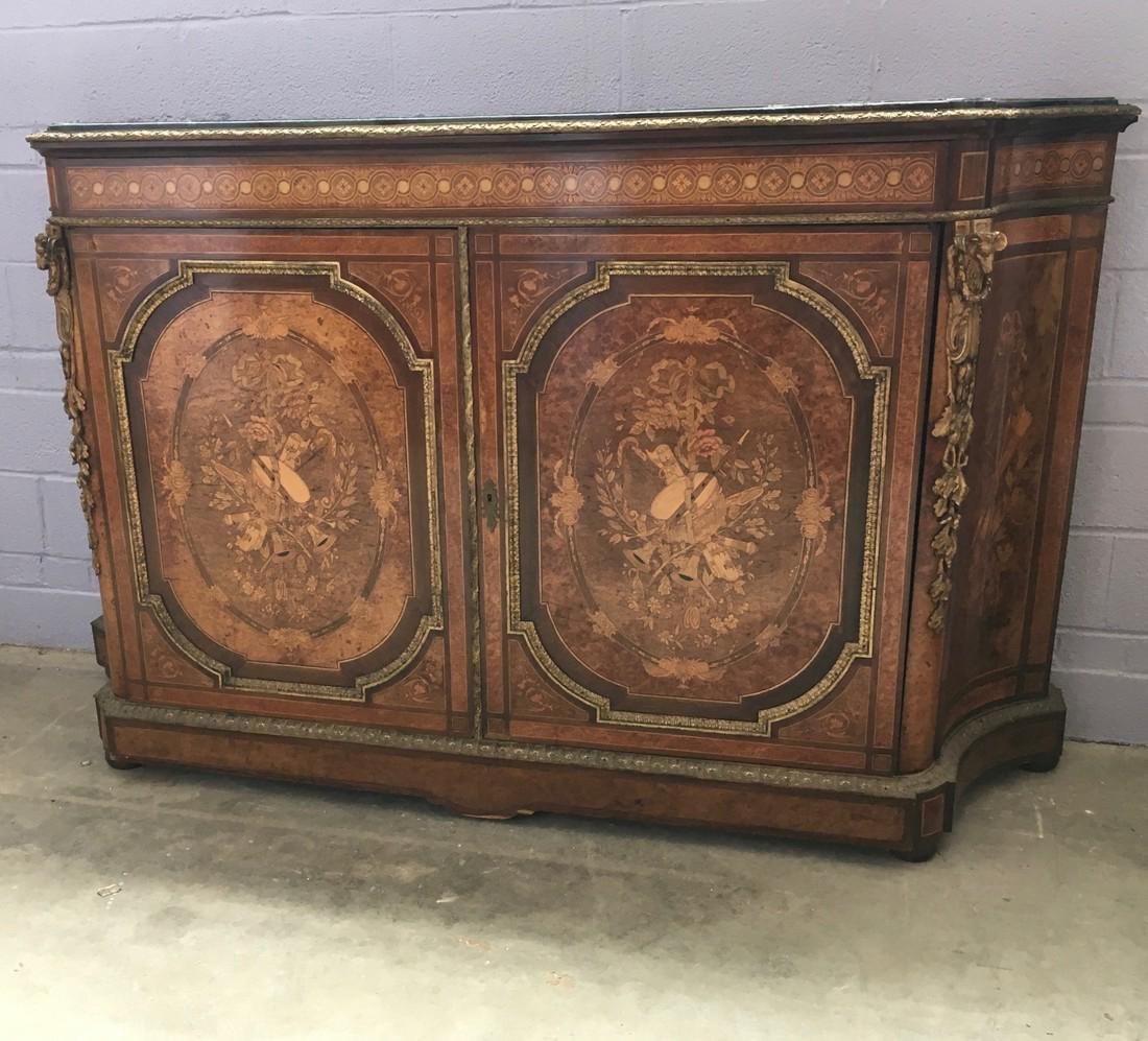 LXVI style 2 door buffet with fine inlay marquetry and