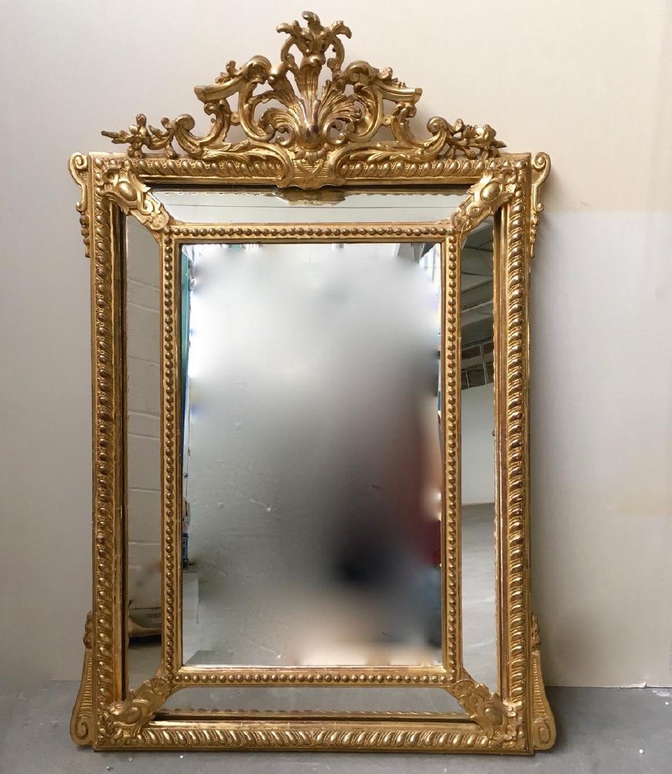 19th NapIII goldleaf mirror á parecloses 47 ½''x32 ½''