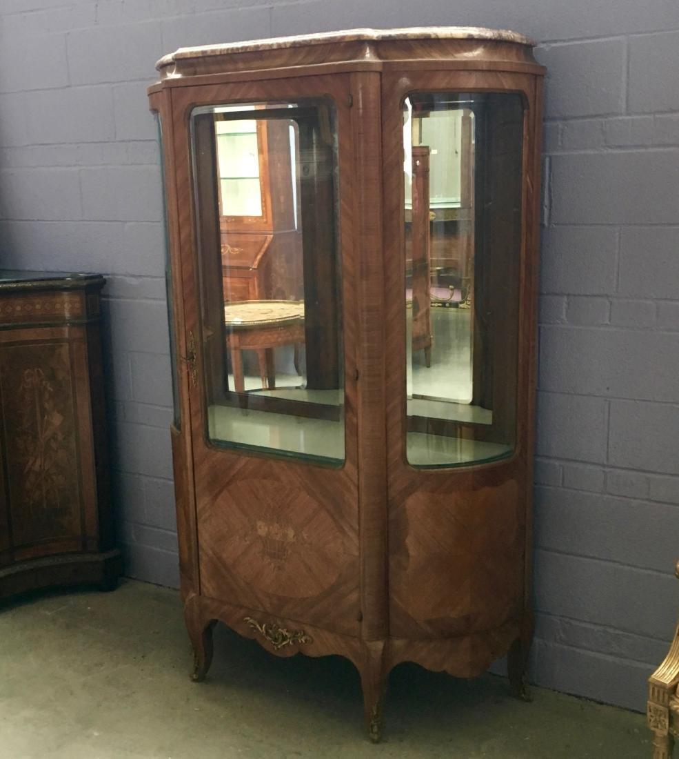 Early century LXV style one door vitrine