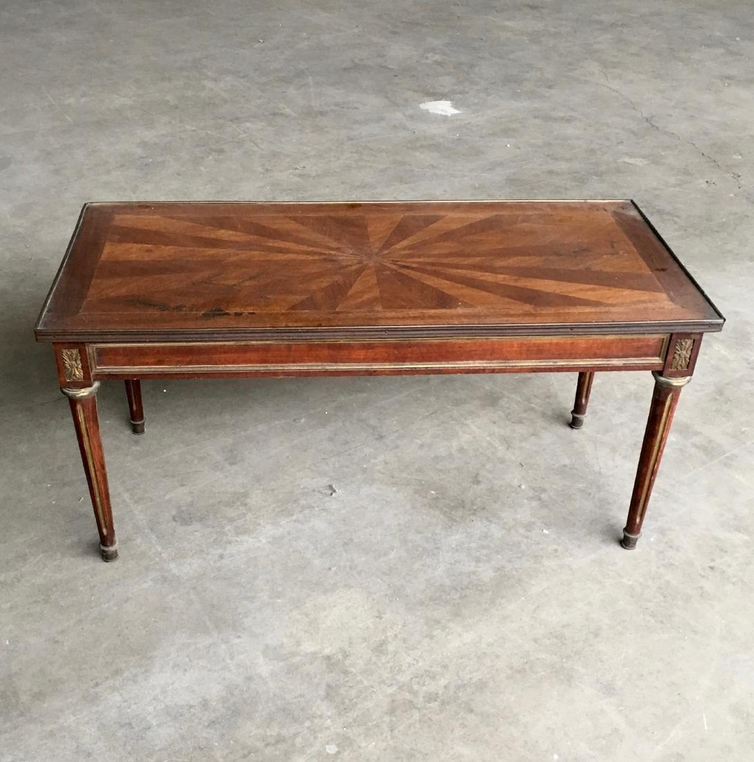 Mid century LXVI style mahogany coffee table. Stain on