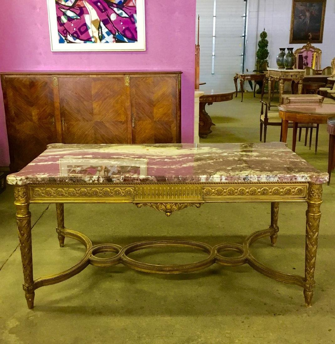 Exceptional 19th century LXVI centre table with fine